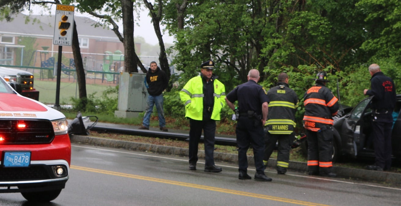 VIDEO: Woman sent to CCH after colliding with SUV and crashing through light pole…