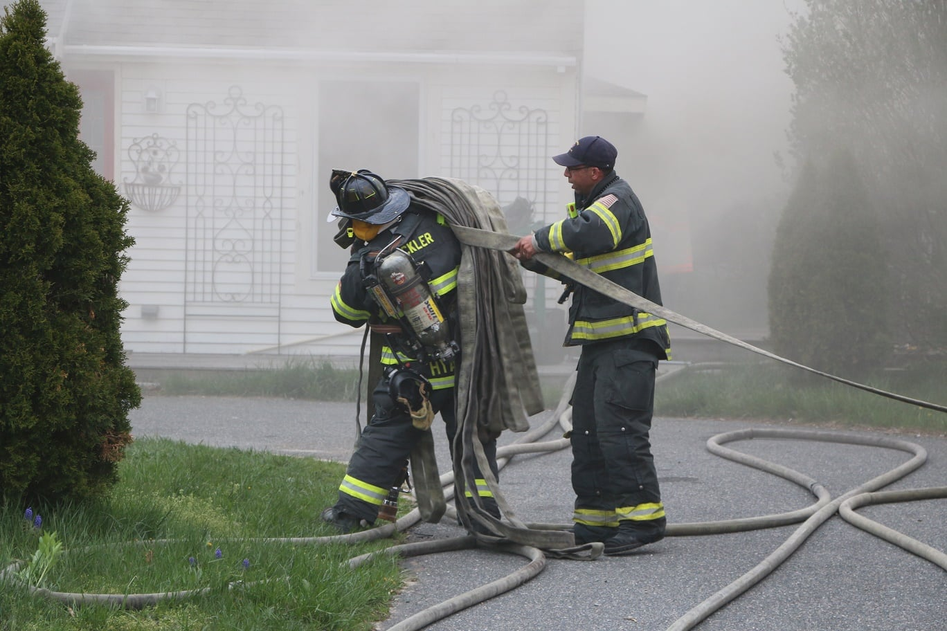 FIREFIGHTER HURT: Smokey fire destroys Hyannis home… [RAW VIDEO]
