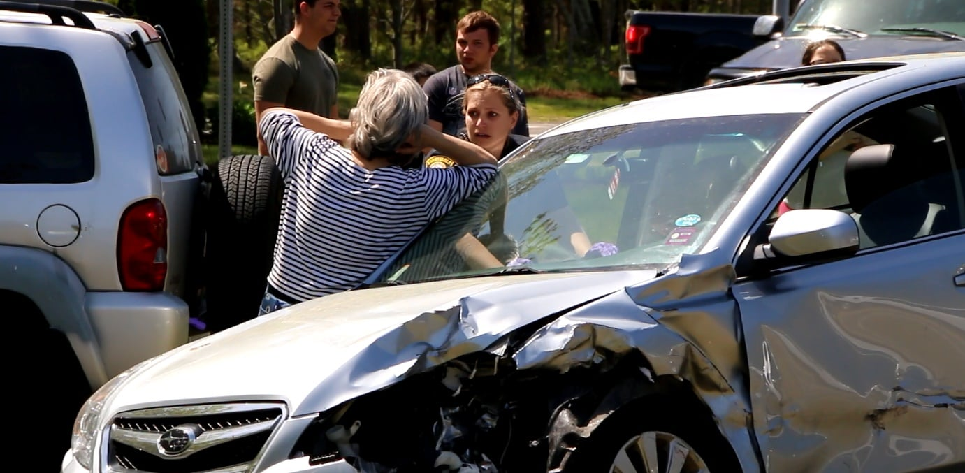 VIDEO: Two sent to CCH after yesterday's crash on Rte. 132…