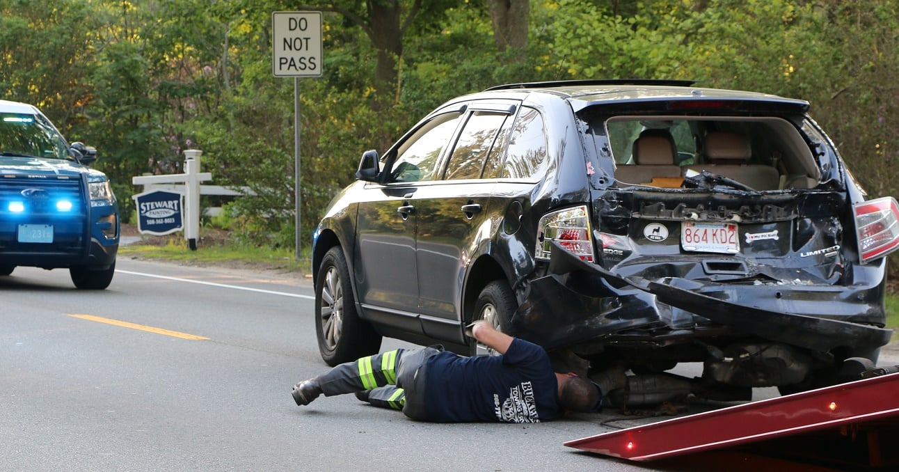 HN PHOTOS: Rear end collision slows Route 28 traffic… sends one to CCH… individual arrested at scene…