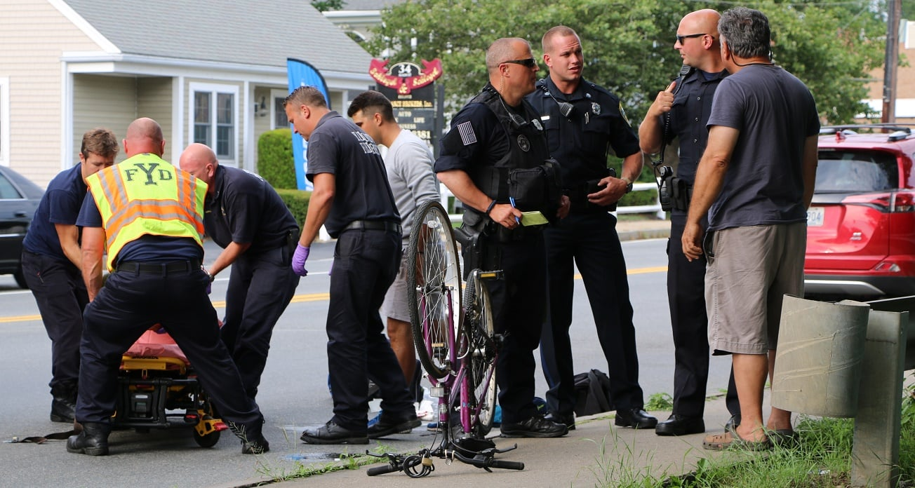 HN VIDEO: Bicyclist down, banged up pretty bad…