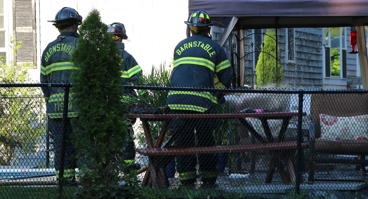 HN PHOTOS: 20 pound propane tank catches fire in Barnstable…