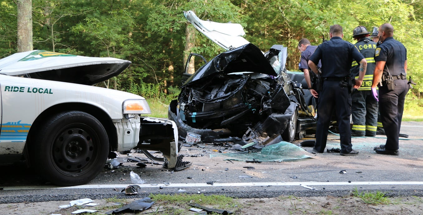 HN VIDEO: Town Taxi struck head-on, 3 injured, 1 freed with Jaws of Life, 2 taken to off-Cape trauma center…