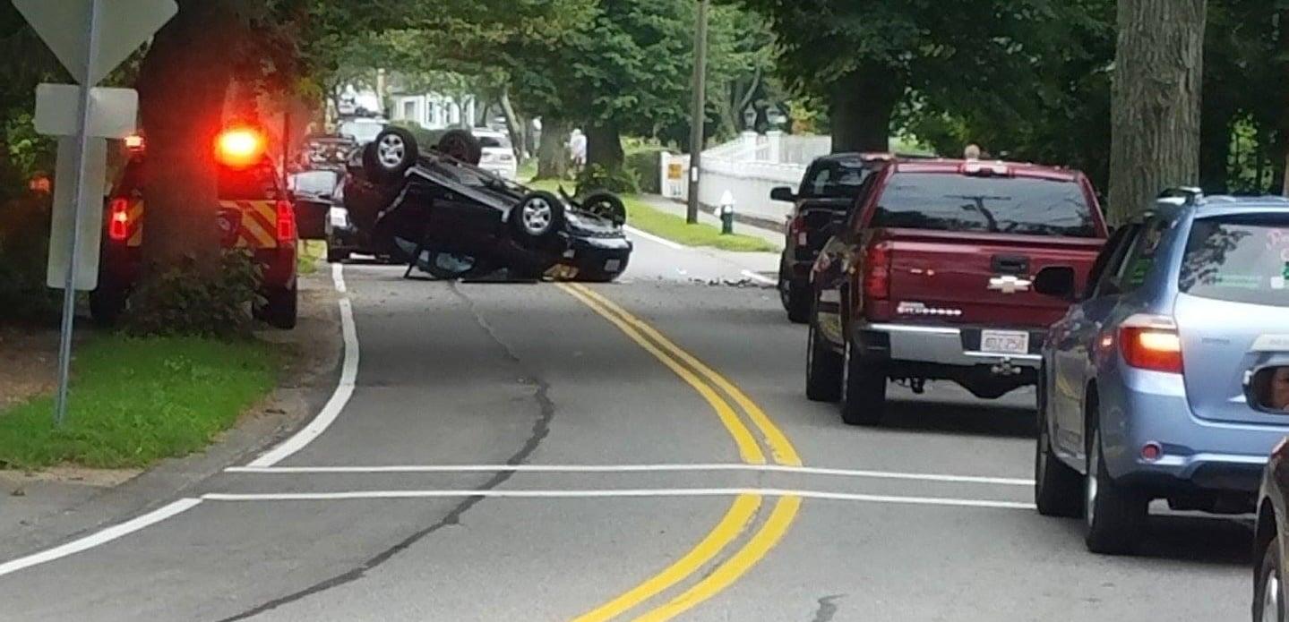 HN READER PHOTO: BPD investigating Centerville rollover crash…