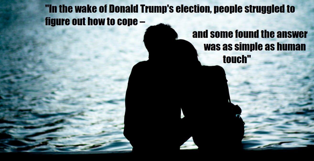 ROLLING STONE: Professional cuddling booming under Trump…