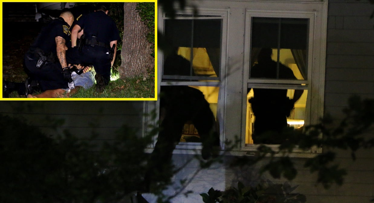 HN VIDEO: Officers climbed in windows after A&B suspect wouldn't come to door… he then tried to flee…