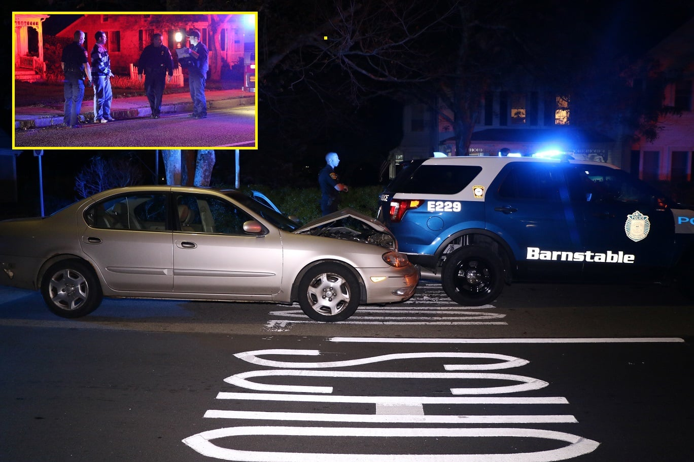 HN VIDEO: Barnstable Police Officer sent to CCH after collision… Operator of other vehicle arrested for drunk driving… [DEVELOPING]