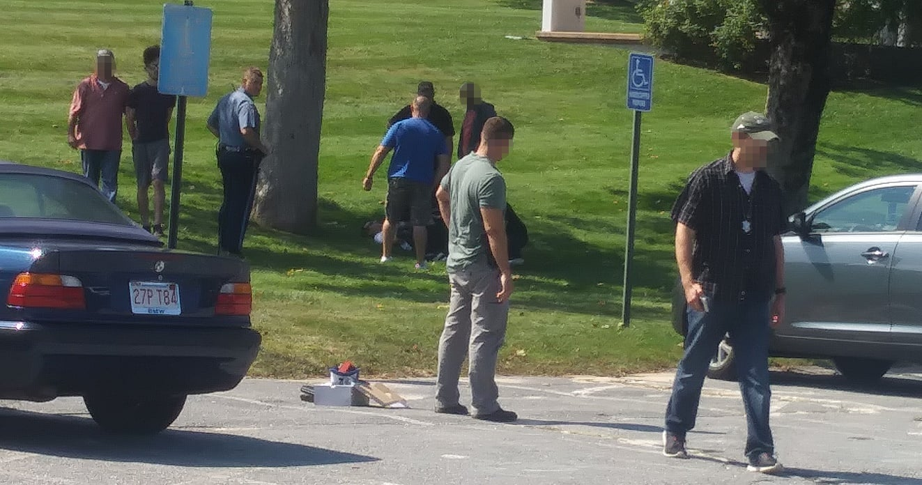 HN READER PHOTOS:  What happened outside of Barnstable District Court yesterday?