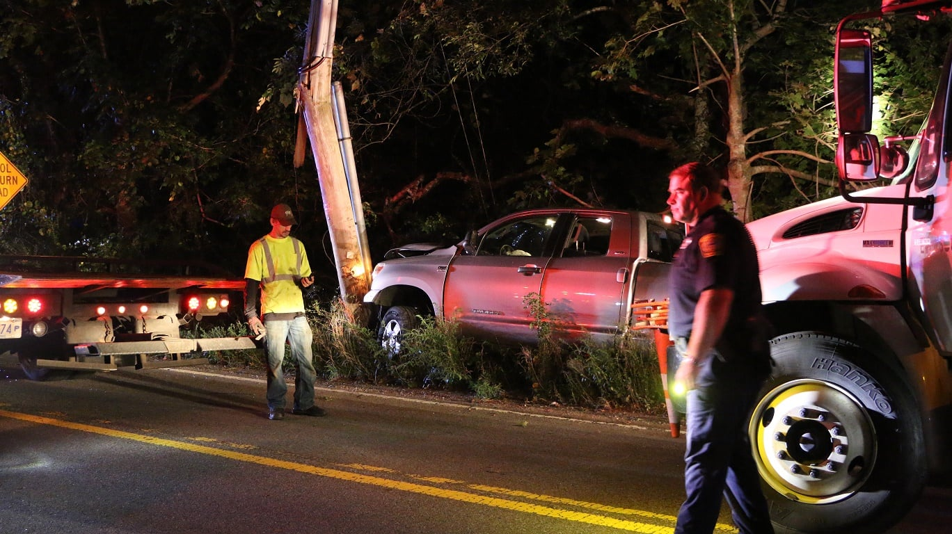 HN VIDEO:  Man taken to CCH after truck slams into high tension utility pole… 6A completely shut down…