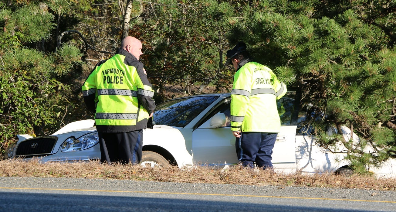 HN VIDEO:  Mid-Cape Highway 3 vehicle accident scene… one vehicle landed in median…