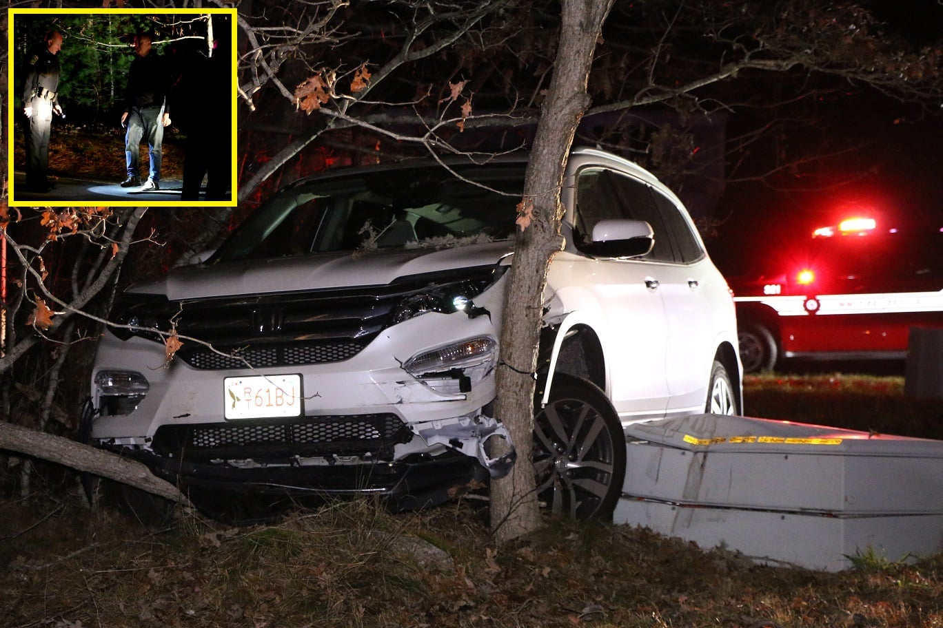 HN VIDEO:  Man arrested for OUI after crashing into utility box and trees…